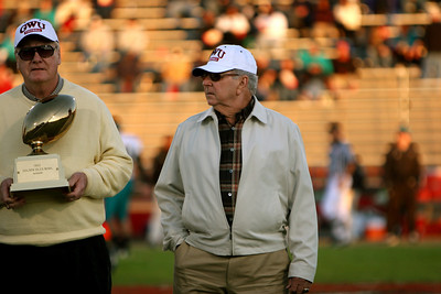 Halftime recognition of the Gardner-Webb Alumn and 1952 Golden Isles Bowl winners.