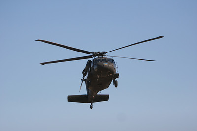 Ben Johnson's Prayer Service and ROTC members get a chance to ride above Gardner-Webb in a helicopter.