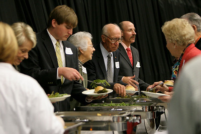 An event in which certain scholarship donors get the chance to meet their recipients and eat dinner together in the Paul Porter Arena; November 13, 2008.