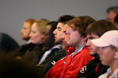 Godbold School of Business hosts an Entrepreneurship Symposium in Blanton Auditorium; November 20, 2008.