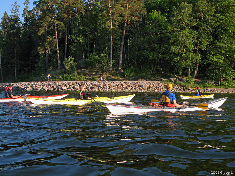 Initial evening paddle on Edsviken, Tuesday 3/6