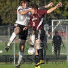 Defended: South's #9, Nathan Wheeler defends against Northview's #2, Drew Snyder during sectional action Thursday night.