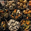 Fall colors: Fall colors fill baskets at a stand in Rockville for the Covered Bridge Festival Thursday.