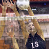 Stuffed: North's #13, Sara Baugh blocks a shot attempt during Thursday's action against Mooresville.
