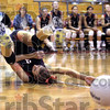 Can you dig it: North's #3, Laura Mauer attempts to dig out a shot during game action against Mooresville Thursday night. North was eliminated 3-2.