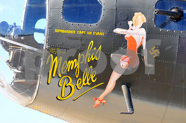 Famous flyer: The B-17 on display at Victory Days is the aircraft that portrayed the famous Memphis Belle in the movie of the same name.