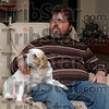 Access denied: Steve Tschido sits in his south side home Thursday afternoon. Tschido, who is blind was denied the right to vote at the Meadows Center polling place because of his handicap.