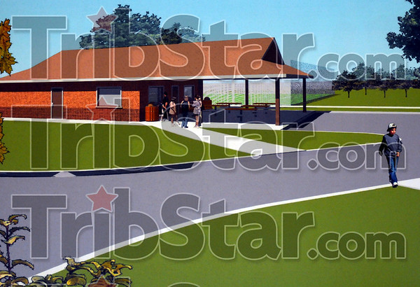 Artist rendering: Artist conception of the new outdoor classroom at Honey Creek Middle School.
