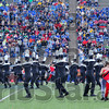 In sync: The Cneter Grove band performs its routine in the Marching Band competition Saturday.