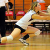 Digger: Ashlen Buck digs a ball against Terre Haute South in the volleyball sectional championships Saturday night.