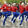 Performers: A group of dancers entertain the parade goers along Wabash Avenue Saturday morning.