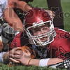Did I make it?: Rose-Hulman quarterback Derek Eitel looks for the official's call as he rests on the goal line Saturday during the team's win over Manchester. Eitel was called down on the play but made it into the endzone on the next.