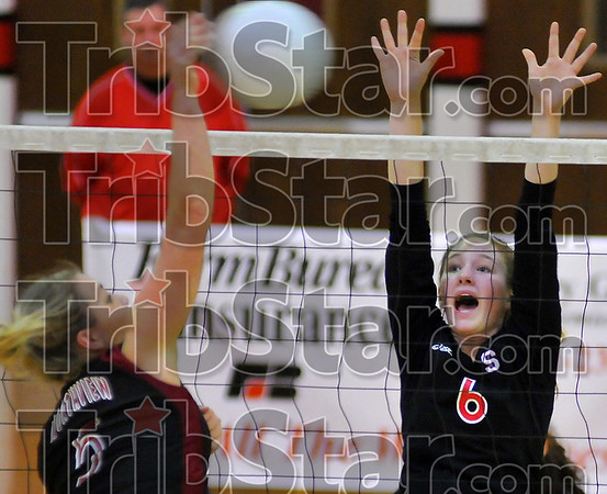 Last year: Brittany Pugh is in her last year with the Terre HAute South volleyball team.