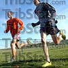One-two punch: North cross country runners Brandon Query (L) and John Mascari practice on the Gibson course Wednesday afternoon as they prepare for the State Finals.