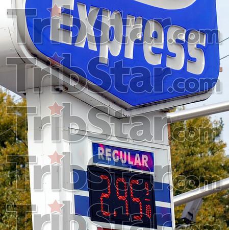 500 Express: Gas prices at the 500 Express at 25th and Hulman have dropped below three dollars.