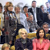 Admiring: Obama supporters listen to Jane Pauley Tuesday afternoon as she speak on behalf of Barack Obama at the Democrat headquarters in Sullivan.