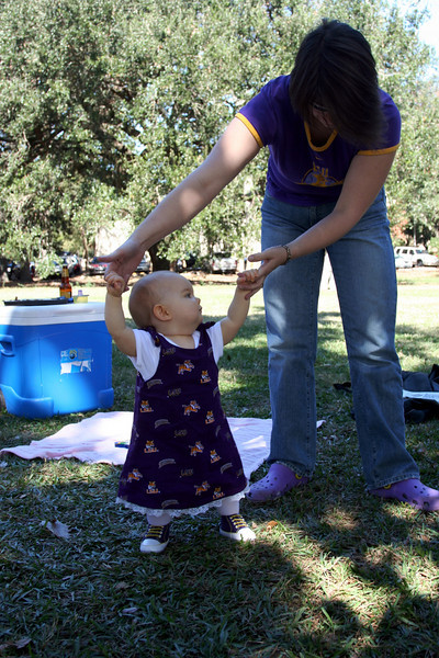 Anna's first tailgate - LSU vs. Georgia