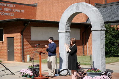 "The class of 2008's ""senior gift"" was to help in the movement of the Gardner-Webb Arch so it may once again be used for graduates to pass through during commencement ceremonies. During Homecoming, a rededication service was held in recognition of this endeavor."