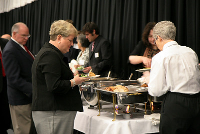 A dinner held during homecoming for those graduates recognized as members of the gallery of distinguished alumn; October 25, 2008.