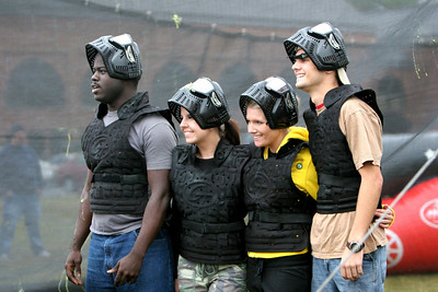 Paintball during the homecoming festivities at Gardner-Webb University; October 25, 2008.