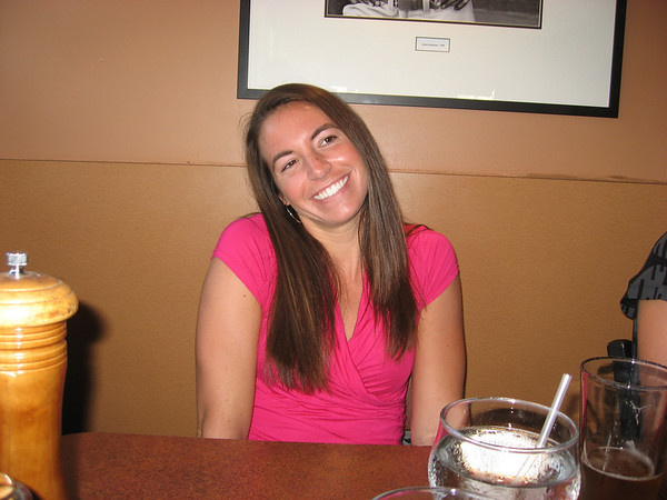 Kira pretending to be cute while we wait for our Pizza/Pasta at Amici's, before Oktoberfest by the Bay.