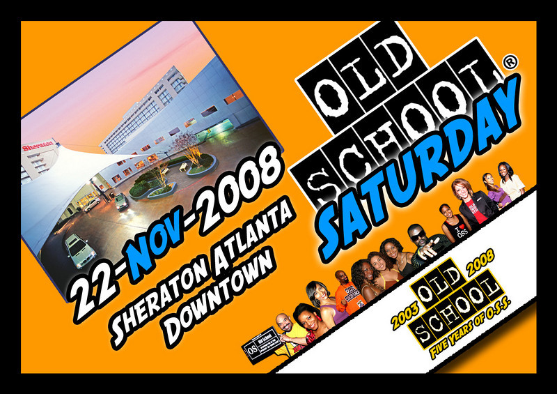 "This is the SECOND event in November for us.  Sat-Nov-22-2008 @ The Sheraton Atlanta Downtown.  Info & tickets:   <a href=""http://www.oldschoolsaturday.com"">http://www.oldschoolsaturday.com</a>"