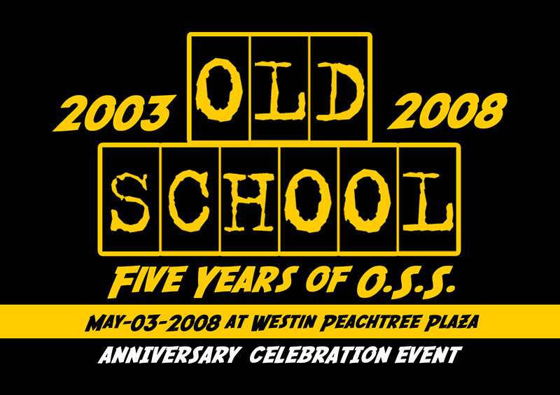 "This is the FIVE YEAR anniversary of ""Old School Saturday"" (OSS). THANK YOU  for making this possible.  [May.03.2008 @ Westin Peachtree Plaza Downtown] info:  <a href=""http://www.oldschoolsaturday.com"">http://www.oldschoolsaturday.com</a>"