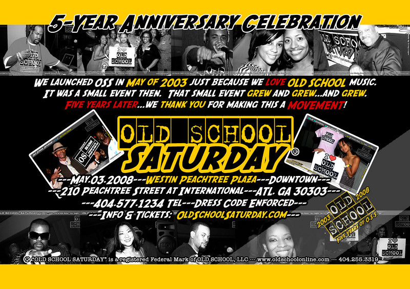 """This is the FIVE YEAR anniversary of """"Old School Saturday"""" (OSS). THANK YOU  for making this possible.  [May.03.2008 @ Westin Peachtree Plaza Downtown] info:  <a href=""""http://www.oldschoolsaturday.com"""">http://www.oldschoolsaturday.com</a>"""