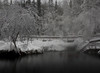 Long exposure of Liard River Hot Springs, two images stitched together.  The ghosts are myself, Tracy, and Kelsey.