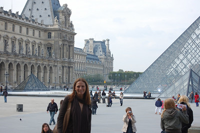 Wendy at the Louvre