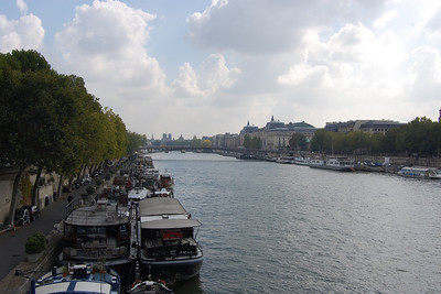 Along the bank of the Seine