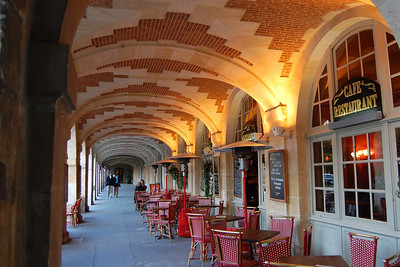 Cafe in the Place des Vosges