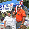 "Sonia Ayala, Vanessa Tirado and Fred Cook register voters in Downing Park, Sunday, September 14, 2008 as part of ""A Taste of Latin Culture."""