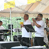 "Members of Jimmy Sabeter Jr y Los Salseros del Hudson perform in Downing Park Sunday, September 14, 2008 as part of ""A Taste of Latin Culture."""