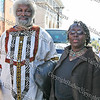 City of Newburgh Councilwoman Marge Bell with Frederick Douglas re-enactor during the First African American Unity Day Parade in 27 Years, held October 4, 2008 in the City of Newburgh.