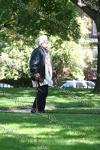 Frederick Douglas re-enactor at Washington's Headquarter's prior to the First African American Unity Day Parade in 27 Years, held October 4, 2008 in the City of Newburgh.