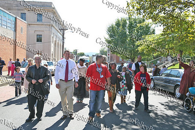 Elected officials march in the First African American Unity Day Parade in 27 Years, held October 4, 2008 in the City of Newburgh.