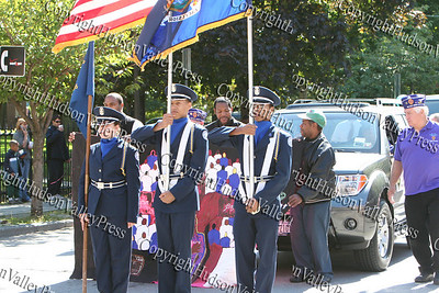 The Newburgh Free Academy JR ROTC Color Guard marches in the First African American Unity Day Parade in 27 Years, held October 4, 2008 in the City of Newburgh.