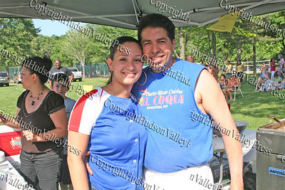 Ivy Quintero with her husband at the 13th Annual Latin American Festival in Beacon, NY.
