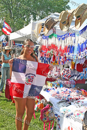 Amanda Caballero shows off her purchase at the 13th Annual Latin American Festival in Beacon, NY.