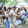 Festival-goers dance at the 13th Annual Latin American Festival in Beacon, NY.