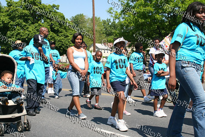 Ebenezer Baptist Church march down Broadway in the City of Newburgh during the annual Memorial Day Parade.