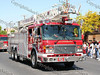 City of Newburgh Fire Department Ladder One comes down Broadway in the City of Newburgh during the annual Memorial Day Parade.