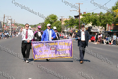 Knights of Columbus march down Broadway in the City of Newburgh during the annual Memorial Day Parade.