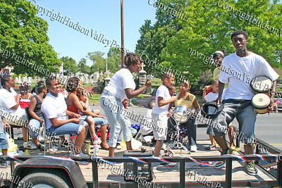 Living In Jesus Ministry float comes down Broadway in the City of Newburgh during the annual Memorial Day Parade.