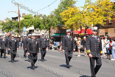 City of Newburgh Fire Department marches down Broadway in the City of Newburgh during the annual Memorial Day Parade.