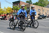 City of Newburgh Police march down Broadway in the City of Newburgh during the annual Memorial Day Parade.