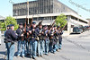 Civil War Re-enactors march down Broadway in the City of Newburgh during the annual Memorial Day Parade.