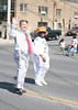 Orange County Democratic Chairman Jonathan Jacobson and City of Newburgh Councilwoman Marge Bell march down Broadway in the City of Newburgh during the annual Memorial Day Parade.