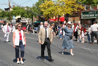 City of Newburgh Councilwoman Christine Bello, City of Newburgh Mayor Nicholas Valentine and City of Newburgh Manager Jean Ann McGrane march down Broadway in the City of Newburgh during the annual Memorial Day Parade.